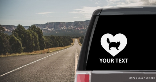 Siberian Cat Heart Sticker