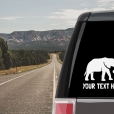 Elephant Personalized (or not) Sticker