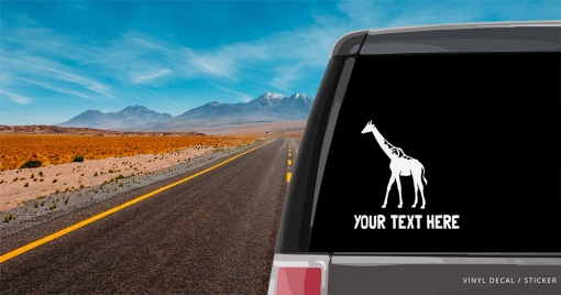 Giraffe Personalized (or not) Sticker