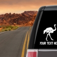 Ostrich Personalized (or not) Sticker