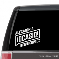 Alexandria Ocasio-Cortez Car Window Decal