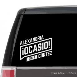 Alexandria Ocasio-Cortez Car Window Decal