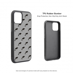 Whale Silhouettes iPhone 11 Case